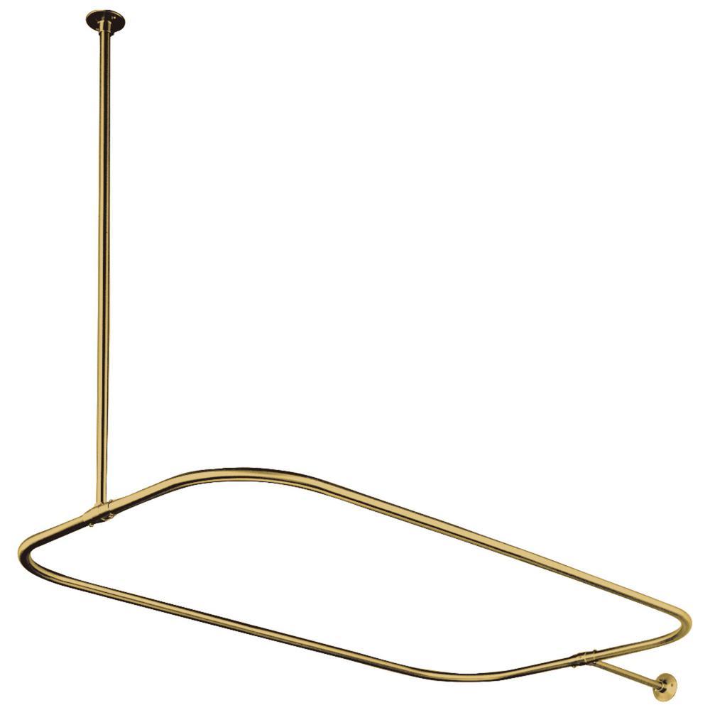 Kingston Brass 44.5 in. x 25 in. Rectangular Shower Rod in Polished Brass