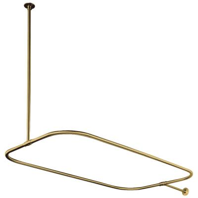 44.5 in. x 25 in. Rectangular Shower Rod in Polished Brass