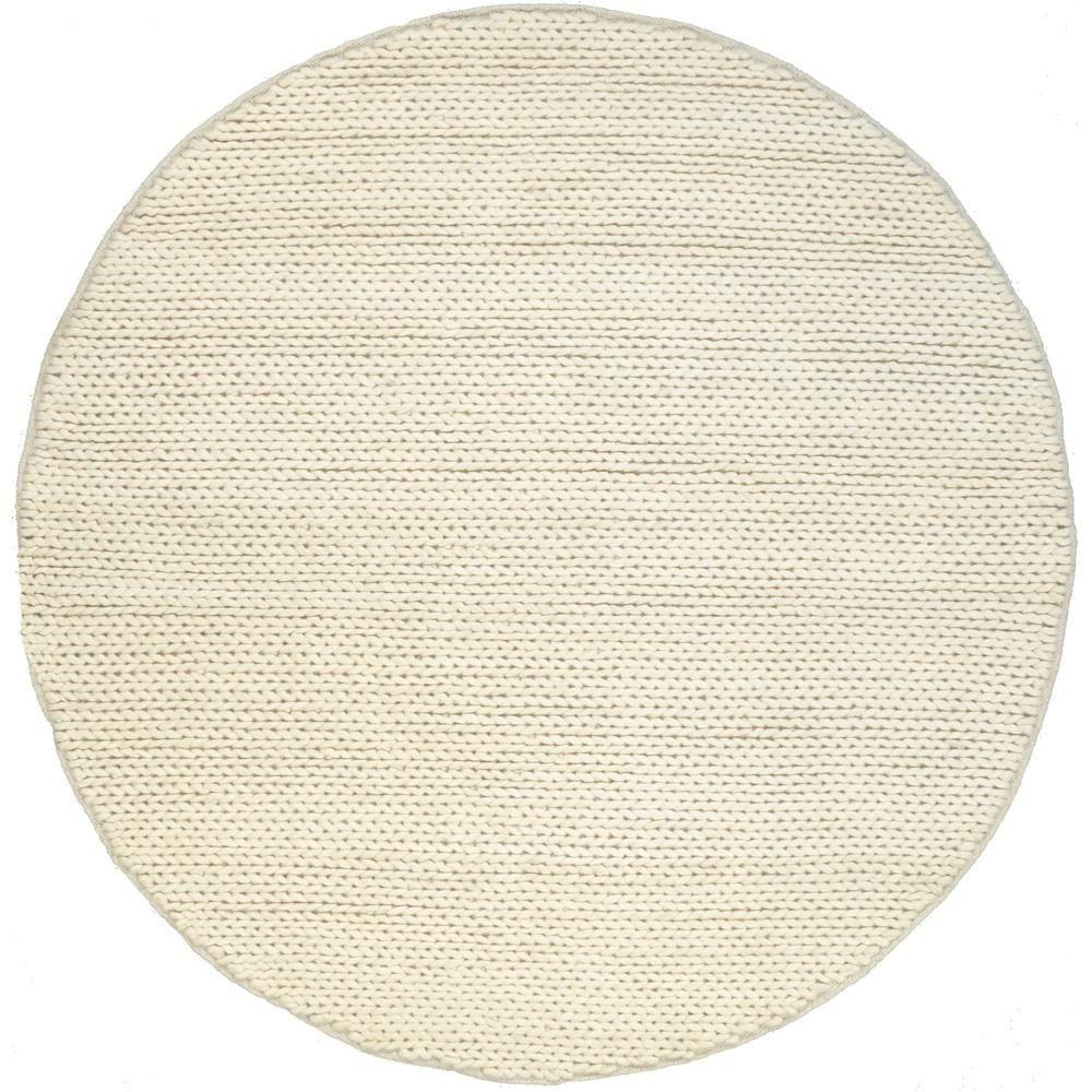 Nuloom Chunky Woolen Cable Off White 6 Ft X 6 Ft Round