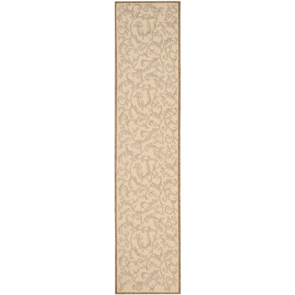 Safavieh Courtyard Natural/Brown 2 ft. 3 in. x 6 ft. 7 in. Indoor/Outdoor Runner