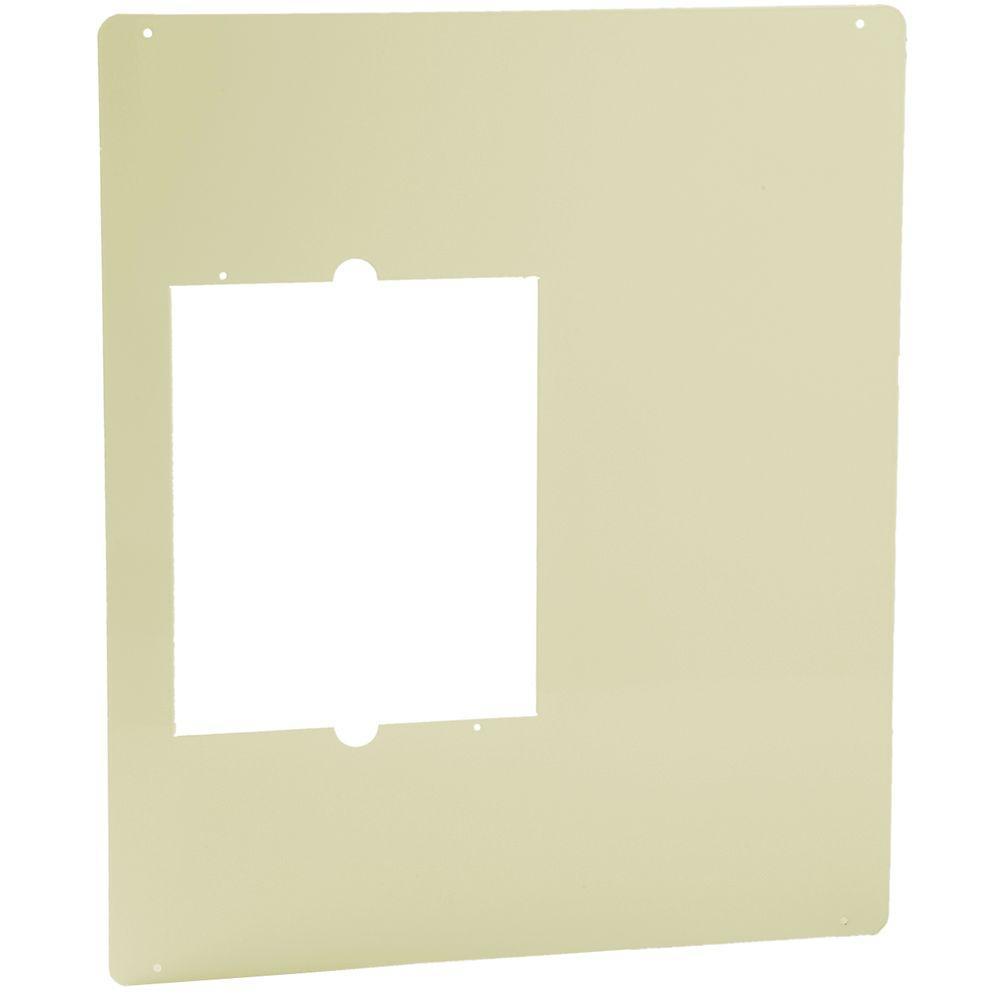 Cadet Com-Pak Plus/Max/Bath 18-1/2 in. W x 22 in. H Metal Adapter Plate Almond