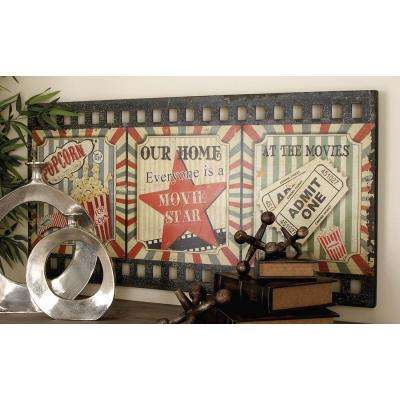 23 in. x 45 in. Classic Movie Film Wall Panel in Colored MDF