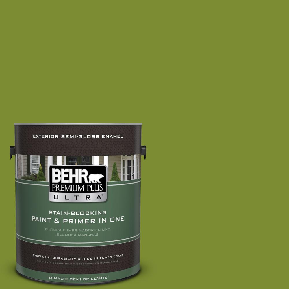 BEHR Premium Plus Ultra 1-gal. #P360-7 Sassy Grass Semi-Gloss Enamel Exterior Paint