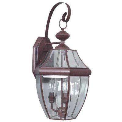Mathers 3-Light Oil Rubbed Bronze Outdoor Wall Lantern