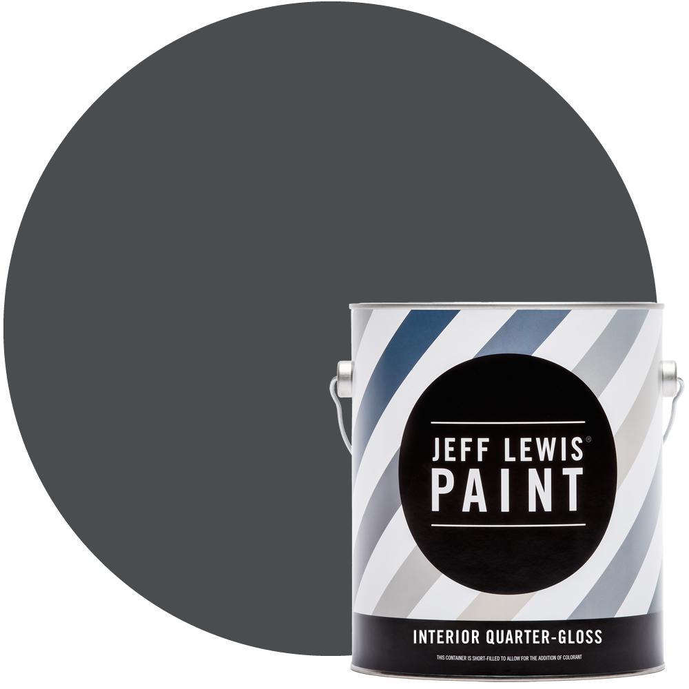 1 gal. #422 Soot Quarter-Gloss Interior Paint