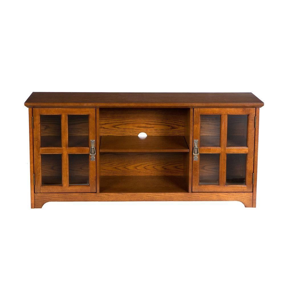 Home Decorators Collection Remington Media Stand in Mission Oak