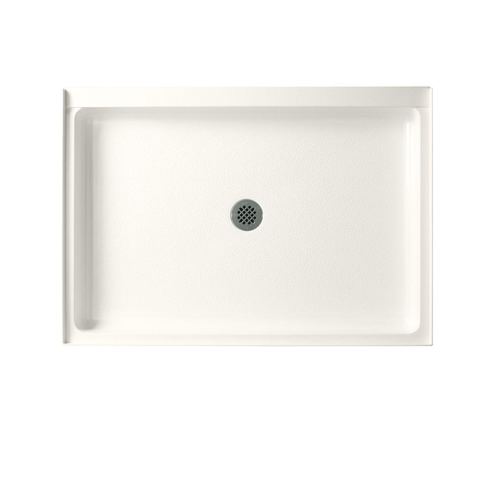 Swan Veritek 34 in. x 42 in. Single Threshold Center Drain Shower Pan in Bisque