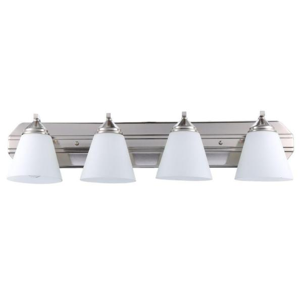 Piazza 4-Light Satin Platinum Wall Mount Vanity Light