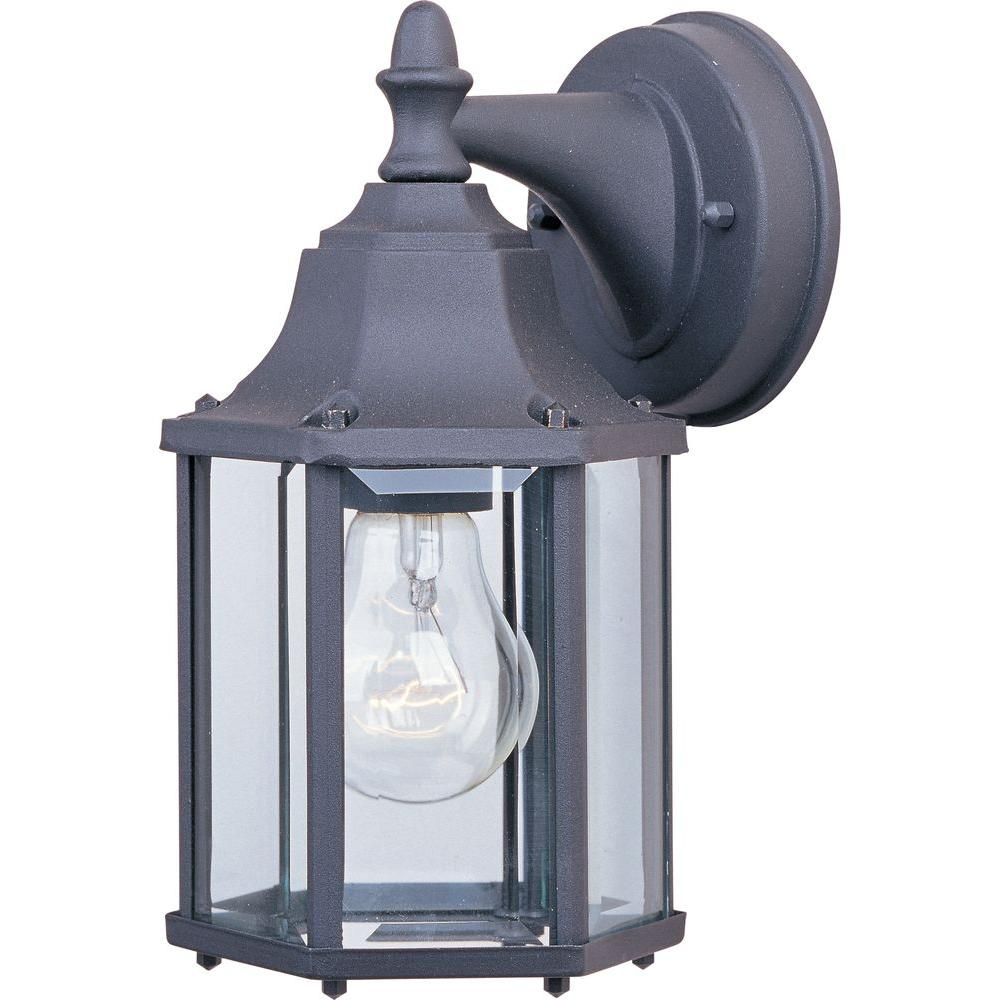 Builder Cast 1-Light Black Outdoor Wall Lantern Sconce