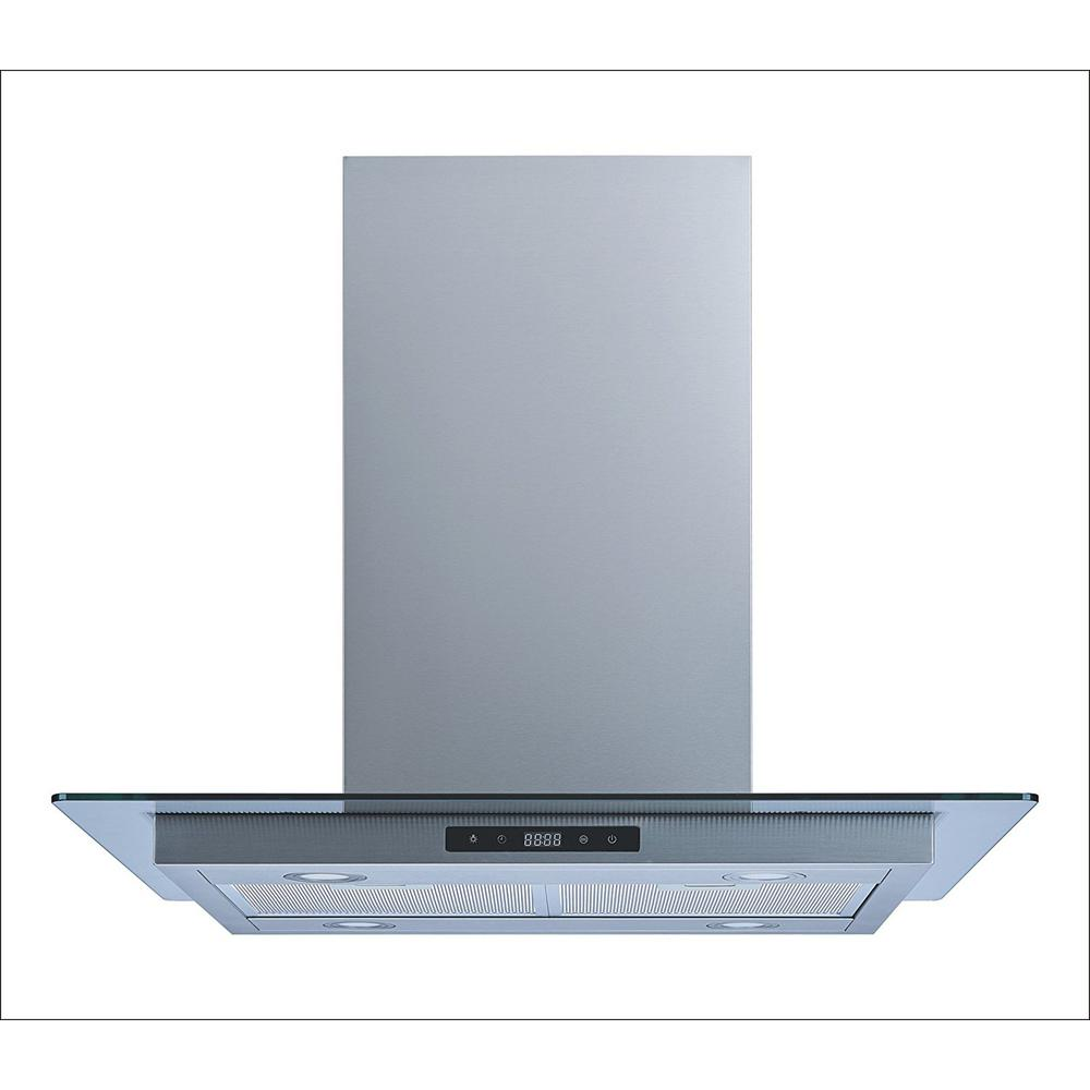 Convertible Island Mount Range Hood In Stainless Steel And