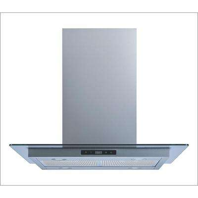 36 in. Convertible Island Mount Range Hood in Stainless Steel and Glass with Aluminum Filters, LEDs and Touch Control