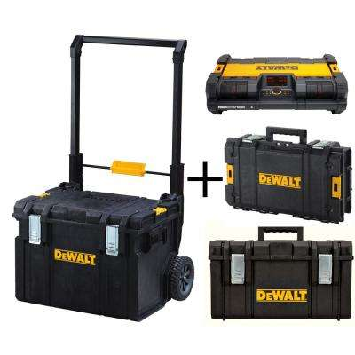 18.3 in. ToughSystem Mobile Tool Box System with 2 ToughSystem Tool Boxes and Stackable Radio