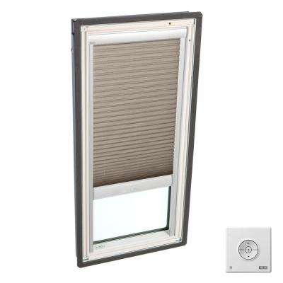 Solar Powered Light Filtering Cappuccino Skylight Blinds for FS C01 Models
