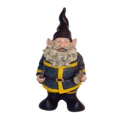 """13 in. H """"Fireman the Hero"""" Garden Gnome Firefighter Holding a Fire Hose and Axe Figurine Statue"""