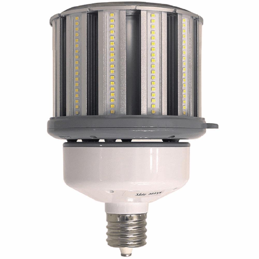 320-Watt Equivalent 80-Watt Corn Cob ED28 LED High Lumen High Bay Bypass Light Bulb Mog 120-277V Daylight 5000K 84107