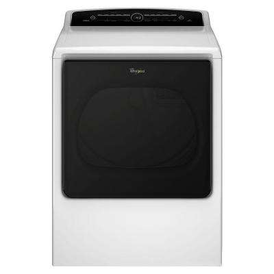 8.8 cu. ft. 240 Volt High-Efficiency White Electric Vented Dryer with Intuitive Touch Controls, ENERGY STAR