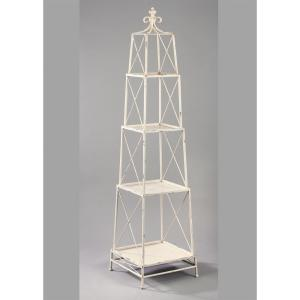 internet 302455763 white distressed 4 tier etagere open bookcase - Distressed Bookshelves
