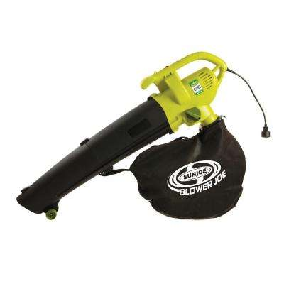 Leaf Blower Joe 200 mph 450 CFM 3-in-1 Electric Leaf Blower Vacuum and Leaf Shredder