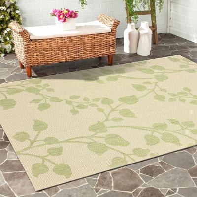 Sun Shower Green/Beige 8 ft. x 10 ft. Indoor/Outdoor Rectangular Area Rug