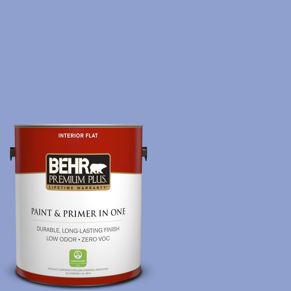 1 gal. #600B-4 Pageant Song Flat Zero VOC Interior Paint and