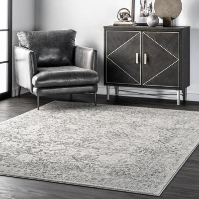 Odell Distressed Persian Ivory 9 ft. x 12 ft. Area Rug