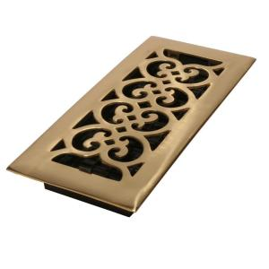 Naiture Solid Brass Wall Register Traditional Style In 8 Sizes and 5 Finishes