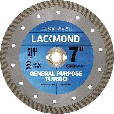 7 in. Continuous Turbo Rim Diamond Blade for Cutting Stone