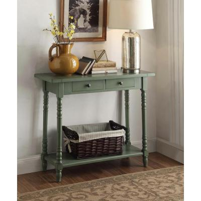 Simplicity Cottage Green Storage Console Table