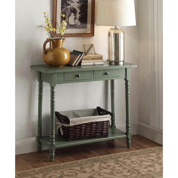 4D Concepts Simplicity Cottage Green Storage Console Table 570379