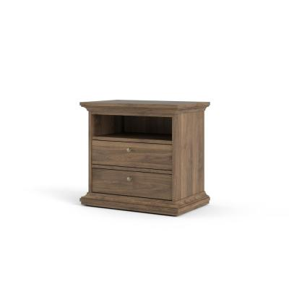 Sonoma 2-Drawer, 1-Shelf Walnut Nightstand
