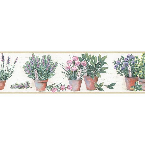 Kitchen Herb Wallpaper Border