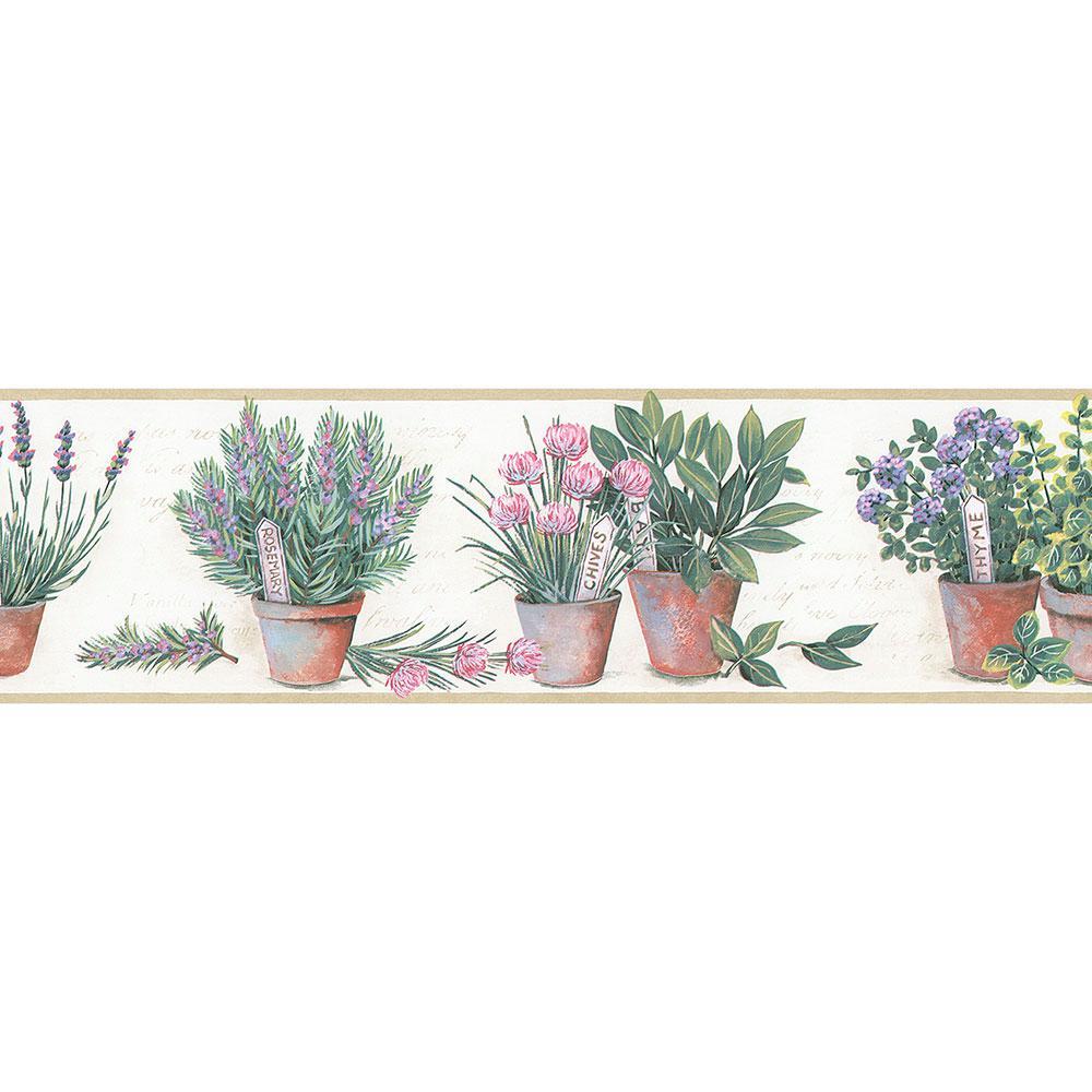 Norwall Kitchen Herb Wallpaper Border