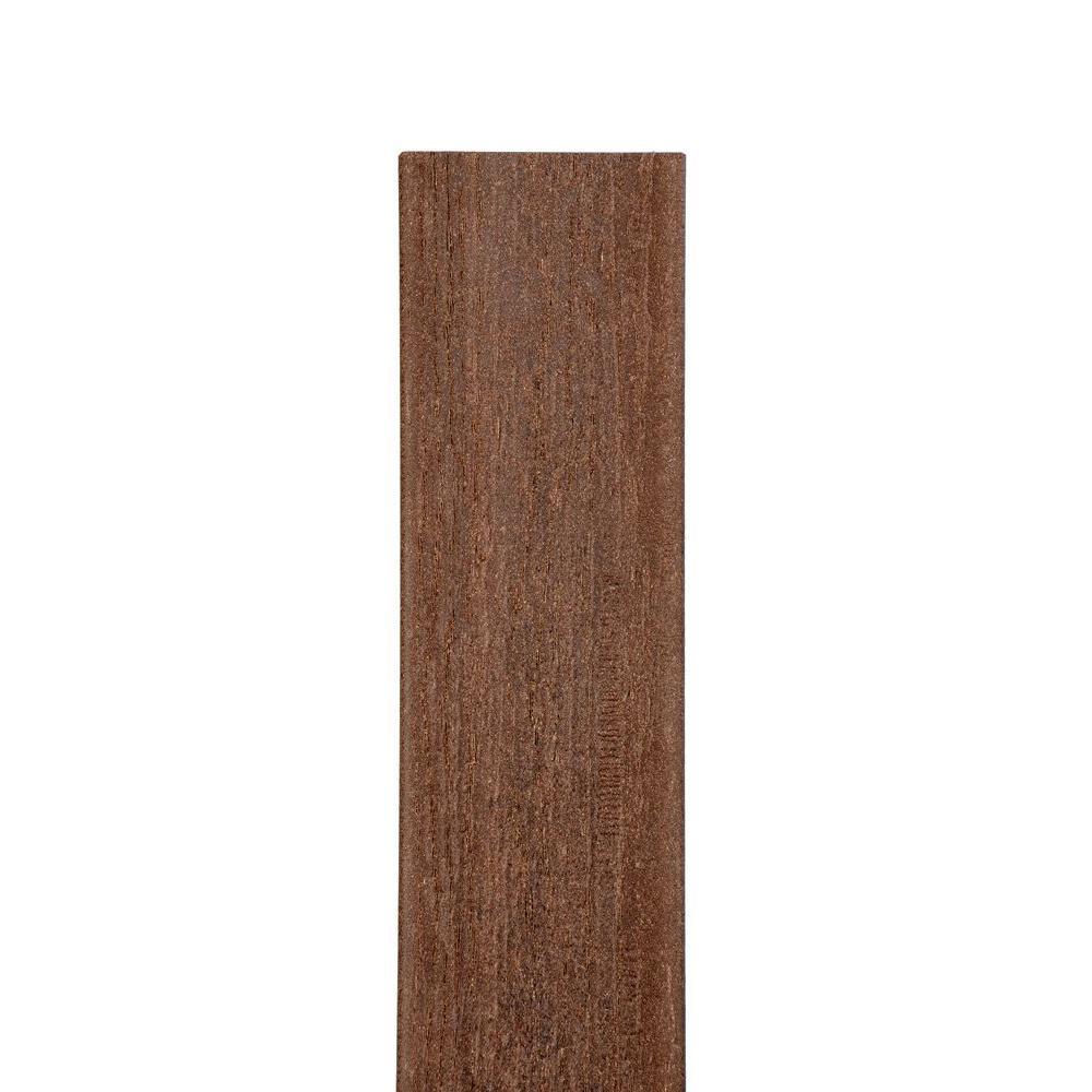 Veranda 7/16 in. x 6 1/2 in. x 69 in. Jatoba Square Top Composite Fence Picket
