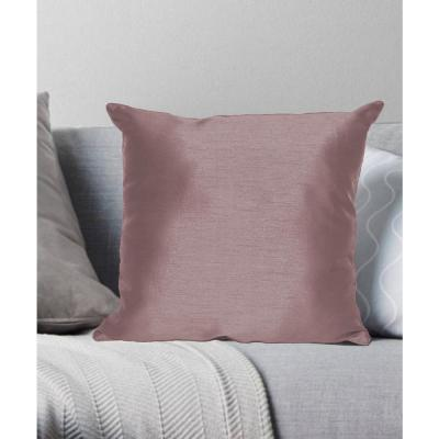 Faux Silk Plum Solid Faux Silk Polyester 18 in. x 18 in. Throw Pillow