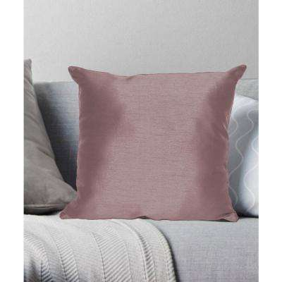Faux Silk Decorative Pillow Standard in Solid Plum
