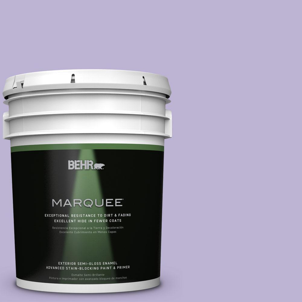 BEHR 5-gal. #M560-3 Grape Hyacinth Semi-Gloss Enamel Exte...