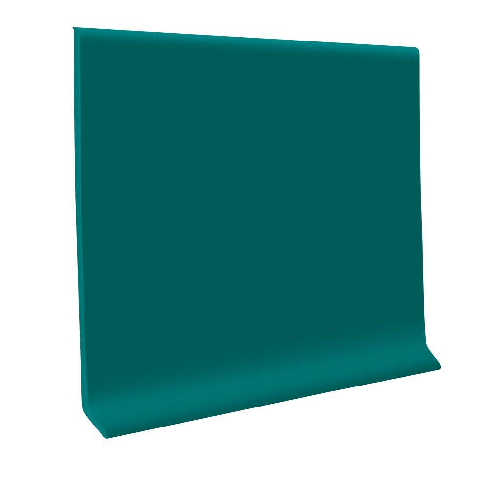ROPPE 700 Series Peacock 4 in. x 1/8 in. x 48 in. Thermoplastic Rubber Wall Base Cove (30-Pieces)