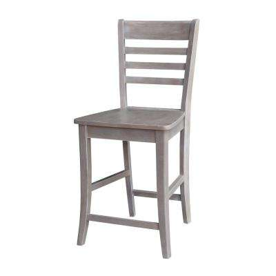 Roma 24 in. Weathered Taupe Gray Bar Stool