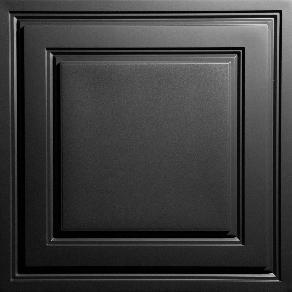 Oxford Black 2 ft. x 2 ft. Lay-in Ceiling Panel (Case