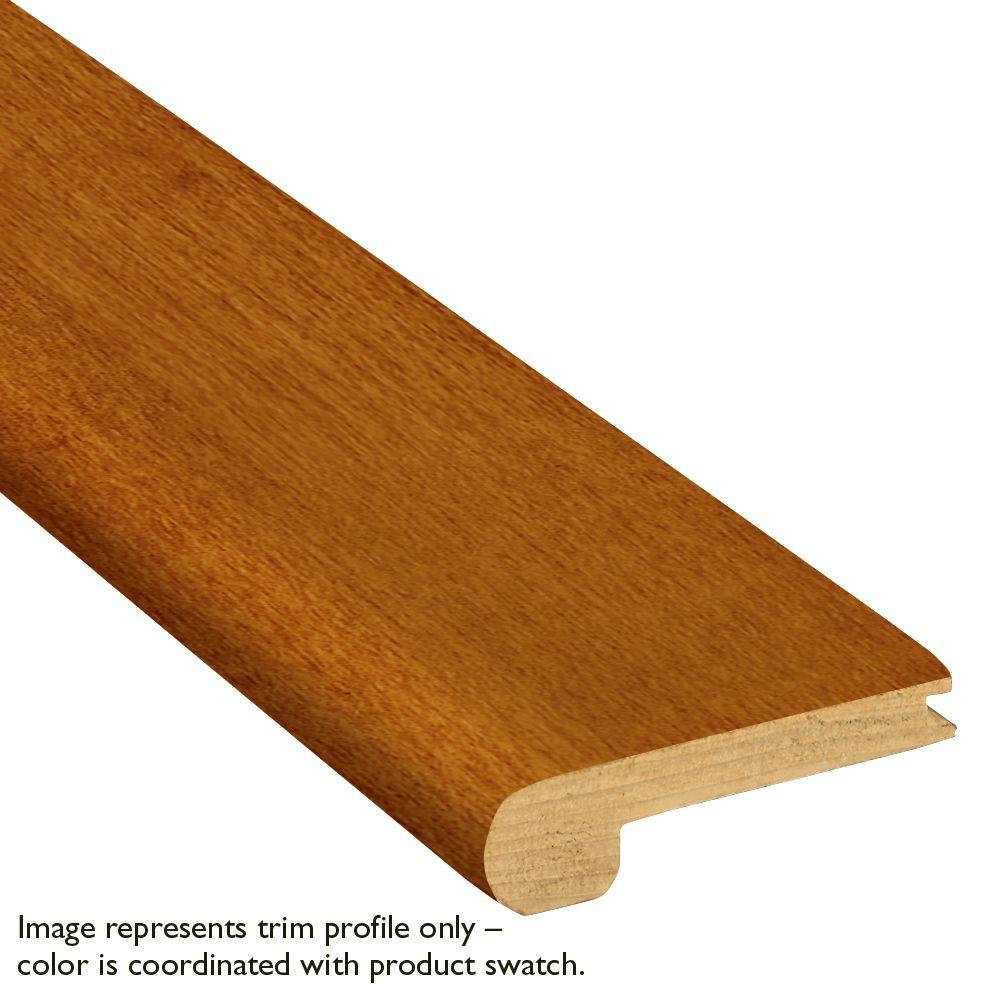 Woodstock 3/8 in. Thick x 2-3/4 in. Wide x 78 in. length Red Oak Stair Nose Molding, Brown