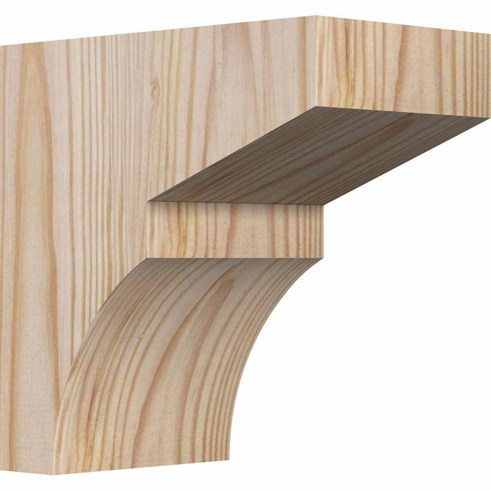 3-1/2 in. x 6 in. x 6 in. Douglas Fir Monterey Smooth Corbel