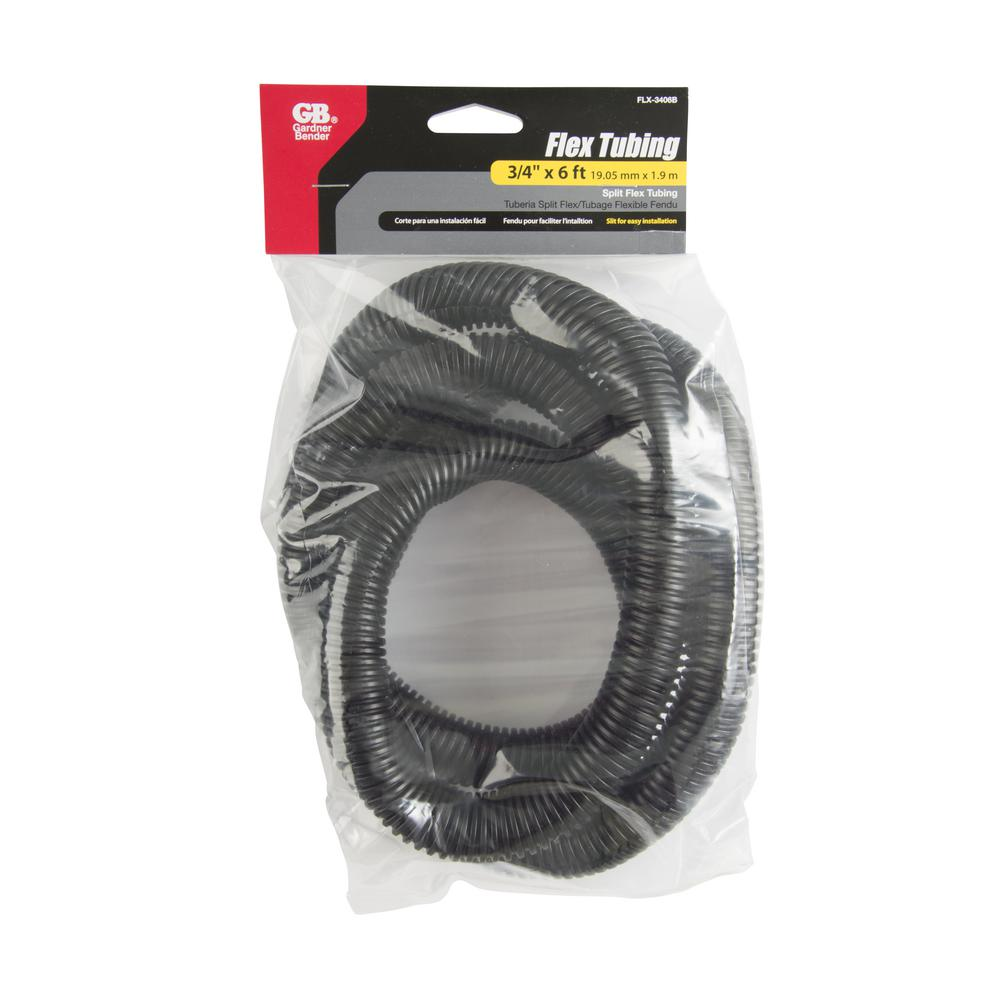 3/4 in. x 6 ft. Flex Tubing Black (Case of 4)