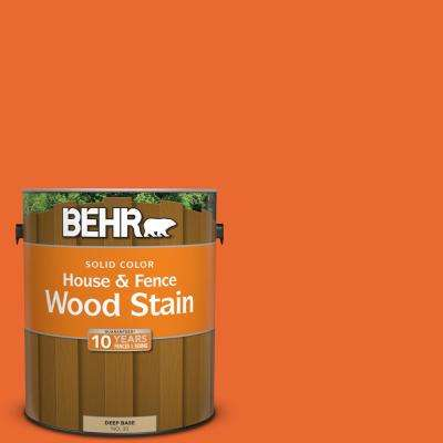 1 gal. #220B-7 Electric Orange Solid Color House and Fence Exterior Wood Stain