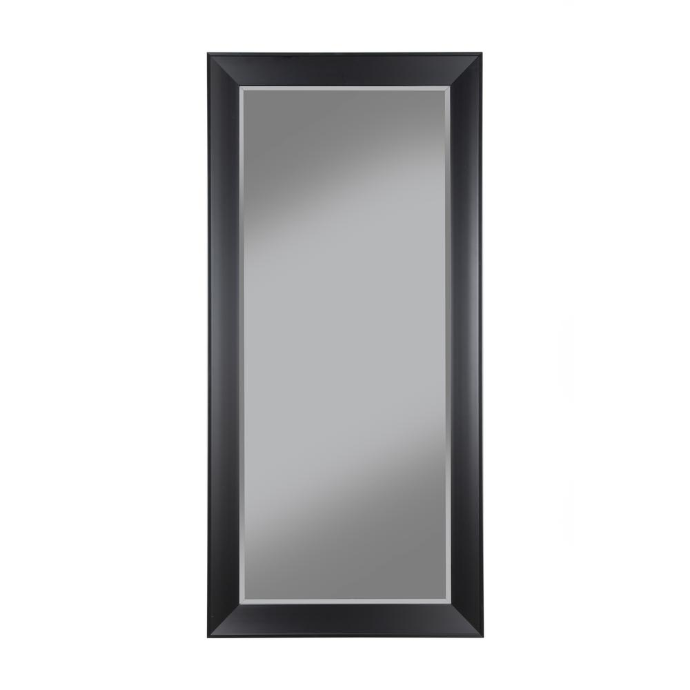 Contemporary Black Full Length Leaner Floor Mirror-15011 - The Home ...