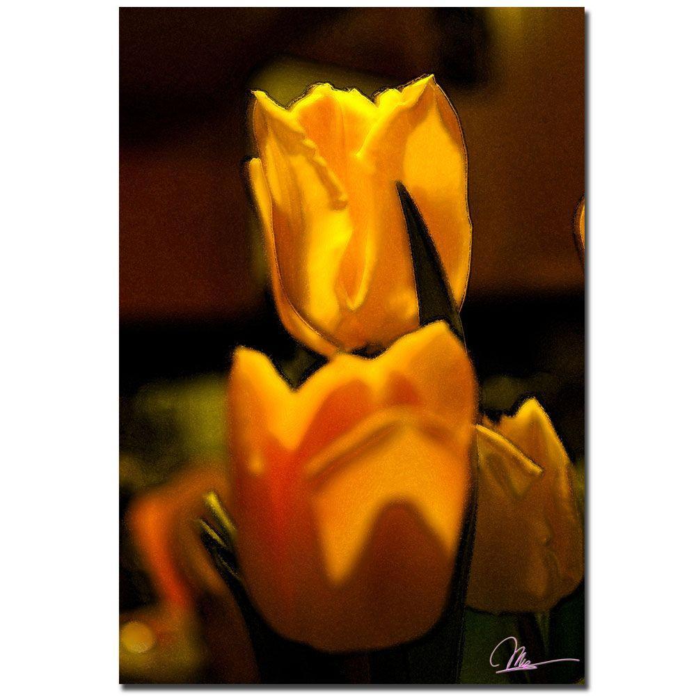Trademark Fine Art 22 in. x 32 in. Tulip Blooms II Canvas Art