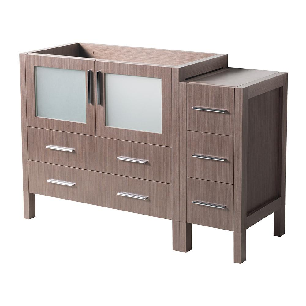 48 in. Torino Modern Bathroom Vanity Cabinet in Gray Oak