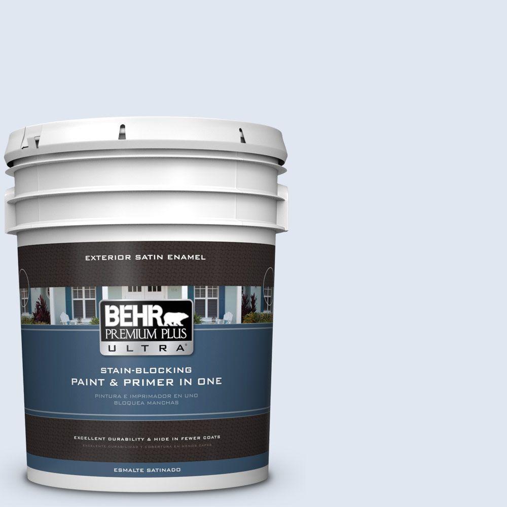 BEHR Premium Plus Ultra 5-gal. #580A-1 Fog Satin Enamel Exterior Paint
