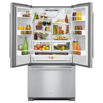 21.9 cu. ft. French Door Refrigerator in Stainless Steel, Counter Depth