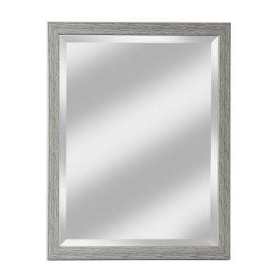 Harbour Collection White Grained Wall Mirror
