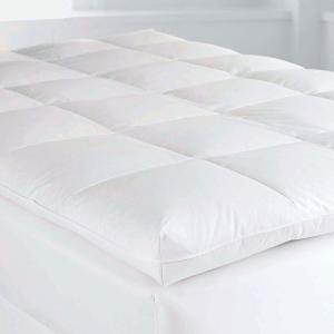 Baffled Square 4 in. Full Down Featherbed Mattress Topper